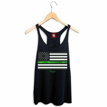WOMENS LEGALIZE FREEDOM RACERBACK