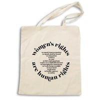 Women's Rights are Human Rights (International Women's Day 2018) -- Tote Bag
