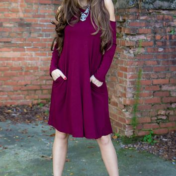 Stay Cool Dress - Burgundy