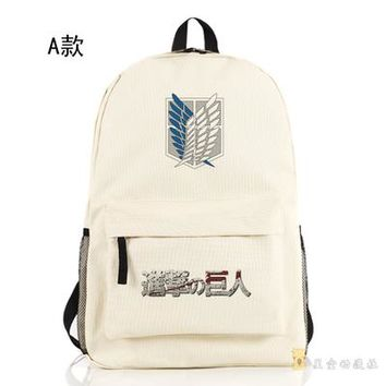 Japanese Anime Bag  Attack on Titan Cosplay Men and women shoulder bag cartoon student bag cute travel backpack child birthday gift AT_59_4