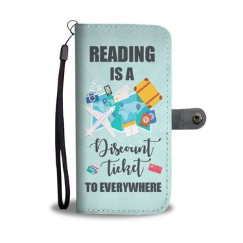 'Reading is a Discount Ticket to Everywhere' [Love Books] Wallet Phone Case