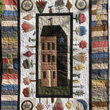 Quilted Wall Hanging Garden House