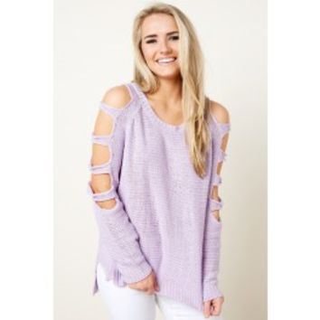 Social Ladder Lilac Purple Sweater