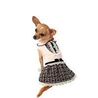 Pink Dog Clothes - Pet Dress, Small Dog Clothes, Designer High End Apparel, Cute, Puppy, Doggy