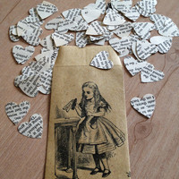 Alice in Wonderland Book Confetti for Vintage Wedding