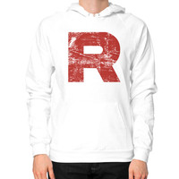Team Rocket Grunge Hoodie (on man)