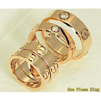 Cartier Classic Popular Women Men Diamond Ring Stars Couple Ring Accessories