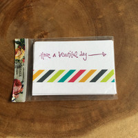 Have a Beautiful Day Mini Note Cards, Mini Cards, Lunch Box Notes, Shop Order Thank You Cards