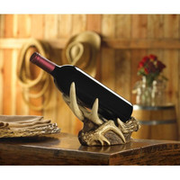 Faux Rustic Antler Wine Bottle Holder