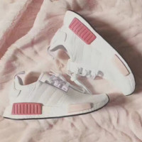 """""""Adidas"""" NMD Fashion Sneakers Trending Running Sports Shoes White-pink G"""