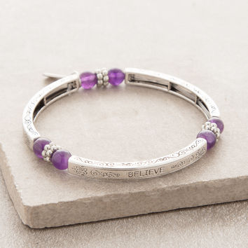 Amethyst Believe Bangle