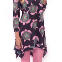 Simply Southern Printed Tunic Dress- Boho Turtle