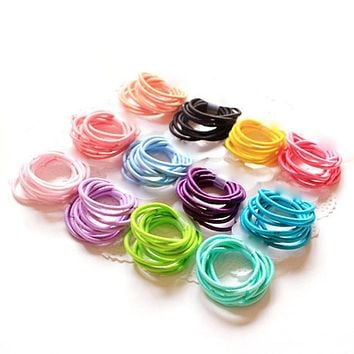 100pcs Elastic Hair Bands Haar Accessories For Women Spiral Scrunchy Telephone Wire Springs And Gum For Hair Tie Headwear