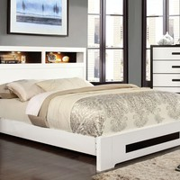 Bayu Modern Two-Tone Queen Bed in Black and White