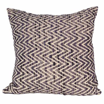 Chevron Feather Cushion Charcoal 25X25
