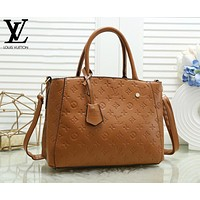 Louis Vuitton LV Fashion Women Shopping Leather Handbag Crossbody Satchel Shoulder Bag Brown