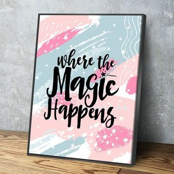 Where The Magic Happens 11 x 14 Canvas Set (Free Shipping)