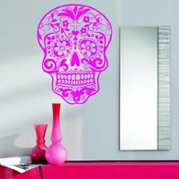 Dabbledown Pink Sugarskull Wall Vinyl Sticker