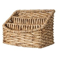 Smith & Hawken™ Woven Basket Tray Organizer with 3 Compartments