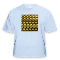 Fyre Trybe 3 Tribal Retro Geometric Pattern Abstract Textile - Light Blue Infant Lap-Shoulder Tee (1