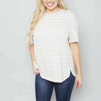 Striped Jersey Knit Top