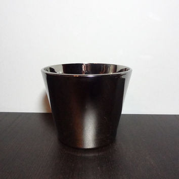 Vintage Kimiko or Vitreon Queens Lusterware Silver Glass Ice Bucket - Cocktail/Barware - Mid Century Modern - Mad Men Style