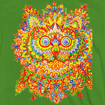 Louis Wain Psychedelic Cat Shirt