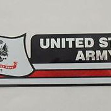 "United States Army Reflective Sticker, Coated Finish, Side-Kick Decal, 12"" X 2 1"