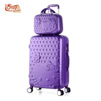 """Hello Kitty children's suitcases luggage set 20""""22""""24""""26""""28"""" inch with 14"""" make up case, girls waterproof bag on wheels"""