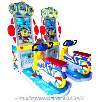Sport Amusement Equipment Indoor Coin Operated Simulator Driving Car Bike Riding Games Arcade Game Machine For For Parent Kids