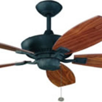 "0-014596>52"" Canfield 5-Blade Ceiling Fan Distressed Black"