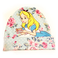 Alice in Wonderland Beanie | Cute Floral Disney Print Hat