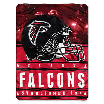 "Falcons  50""""x60"""" Silk Touch Throw, """"Stacked"""" Series"
