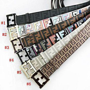 tourtownbeach: FENDI Woman Fashion Smooth Buckle Belt Leather Belt I-A-GFPDPF