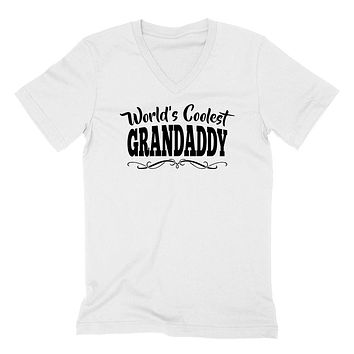 World's coolest grandaddy Father's day birthday gift ideas for new grandpa proud grandfather gifts for him  V Neck T Shirt