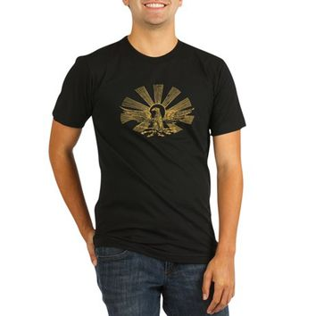 Golden Eagle Organic Men's Fitted T-Shirt (dark)