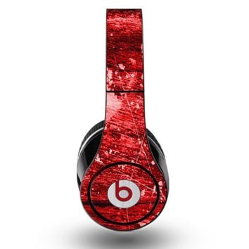 The Red Grunge Paint Splatter Skin for the Original Beats by Dre Studio Headphones