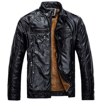 Black New Leather Jacket Man  Biker Jackets Male Pu Leathers Coat For Men Masculine Jean Jacket Mens Motorcycle Jackets