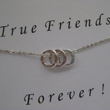 Friendship Necklace. 3 Best Friend Necklace. Gifts for Best Friend. Sister Gift. Best Friend Gift. Inspirational Jewelry. Bridal Party