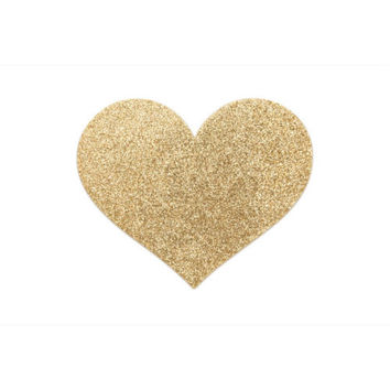 Bijoux Indiscrets Flash Heart Nipple Covers Gold Pasties Stickers