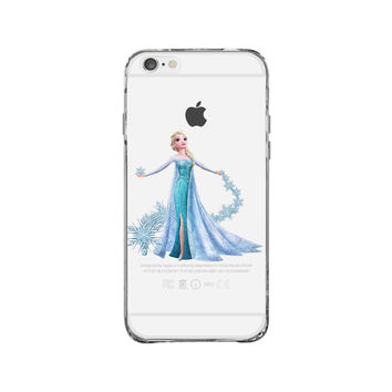 Elsa Snow Flake Trail iPhone 6 Clear Case