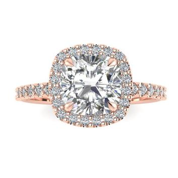 Colorless Cushion Cut Forever One Moissanite Ring 927aa1677
