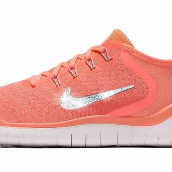 Nike Free RN 2018 + Crystals - Crimson Pulse