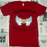 Cranberry Quidditch World Cup '12 Crewneck T-Shirt (Sizes: XS / S / M / L)