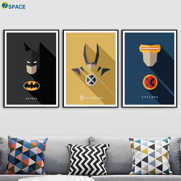 Batman Dark Knight gift Christmas Batman Cyclops Wolverine Super Hero Wall Art Canvas Painting Nordic Posters And Prints Decoration Pictures Baby Boy Room Decor AT_71_6