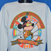 90s Mickey Mouse International Flag Disney Sweatshirt Extra-Large