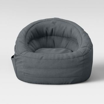 Cocoon Bean Bag Chair with Pocket Gray - Pillowfort™
