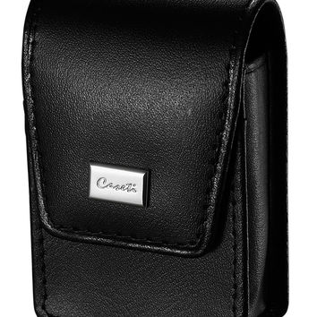 Caseti Espresso Smooth Black Leather Lighter Case