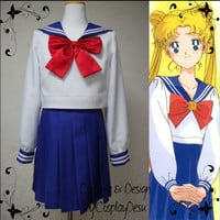 Sailor moon blue school uniform cosplay outfit for by CosplayDesu