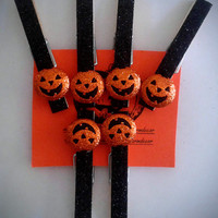 JackoLantern Decorated Halloween Clothespins, Halloween Clothes Pins, Pumpkins, Halloween Party Decorations,Halloween Magnets,Costumes